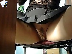 3 movies - The lusty amateur babe is so fond of her own business that she doesn't notice our skilful camera man secretly recording her naked and hairy pussy upsk