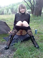Upskirt pictures - pantie hose up skirt
