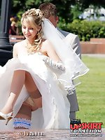 Upskirt pictures - Very steamy bride upskirt pics
